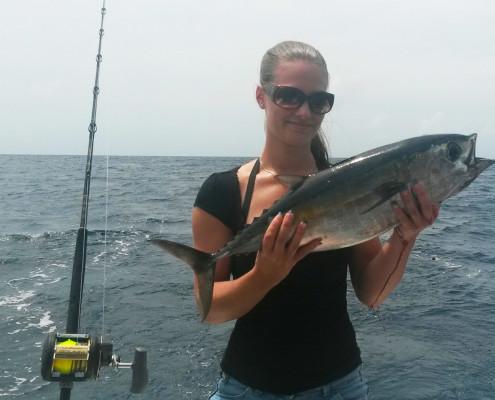 female angles fishing curacao